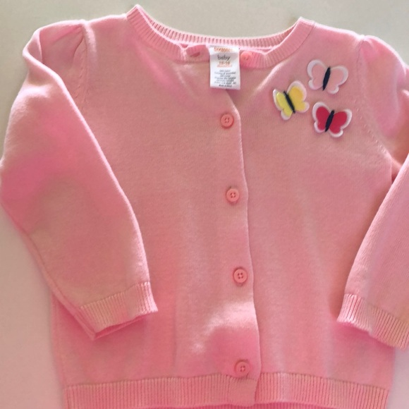 Gymboree Baby Girls Butterfly Cardigan Pink